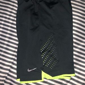 Boys grey and green Nike shorts